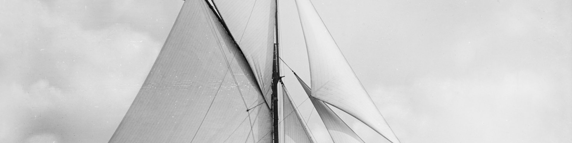 Lennox Watson designed cutter, 'Thistle', launched 1887.