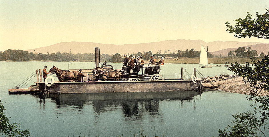 Steam ferry on Lake Windermere, c.1900 Wikimedia Commons