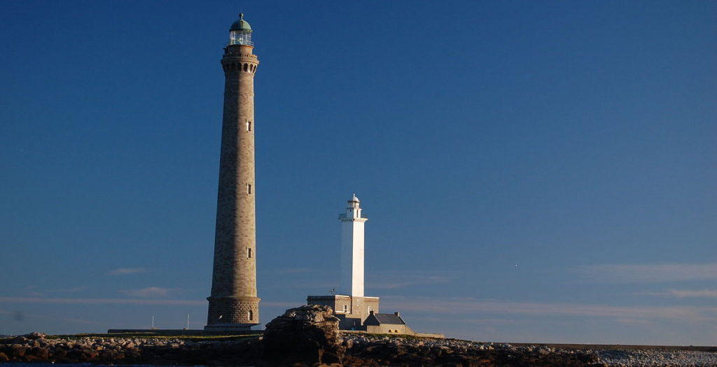The two lighthouses on Ile Vierge