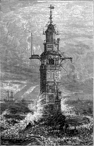 Winstanley's lighthouse, Eddystone Rock, Frederick Whymper