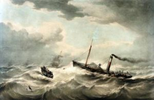 Rescuing passengers from the St Andrew Packet Ship off Liverpool Samuel Walters, July 1839, Liverpool Record Office