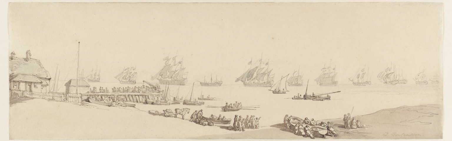 Yarmouth Roads: Open View of the Estuary by Thomas Rowlandson 1756-1827